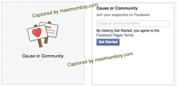 เปิดเพจ แบบ Community Page