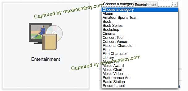 เปิดเพจ แบบ Entertainment Page