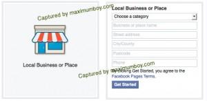เปิดเพจ แบบ Local Business Page